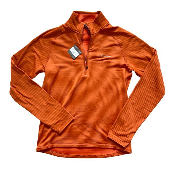 NWT Eddie Bauer 1/4 Zip Pullover Fleece Neck Shirt Sweater Jacket Layers Medium